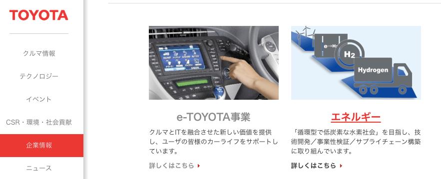 トヨタ自動車 事業内容