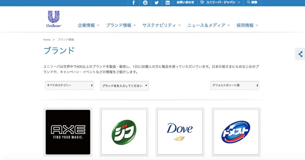 ユニリーバ・ジャパン 事業内容