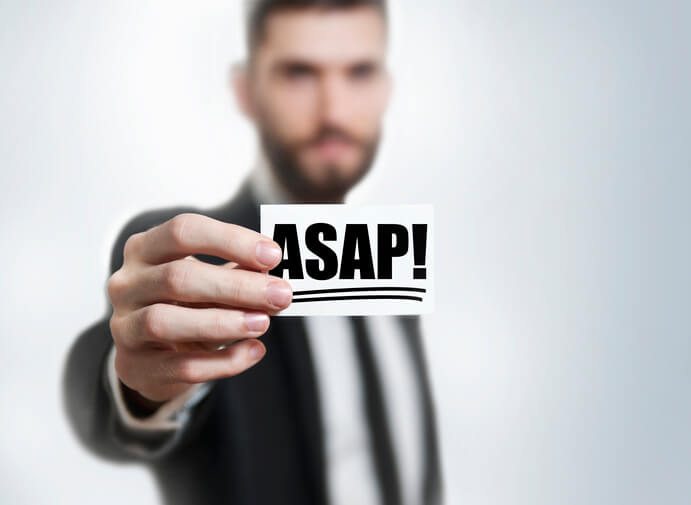 「ASAP」を使う際に注意すべき2つのこと