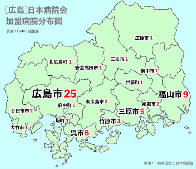 広島 看護師 病院の位置