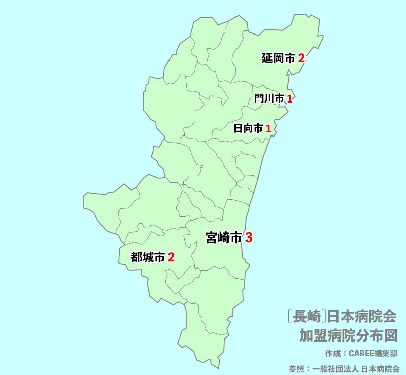 宮崎県 病院数