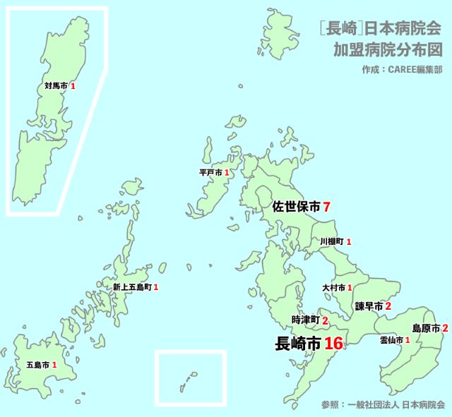 長崎主要病院マップ